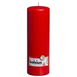 Bolsius Pillar Candle świeca bryłowa pieńkowa słupek 300/100 mm - Czerwona