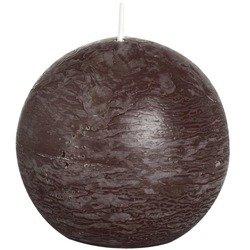 Bolsius Rustic Ball Candle świeca rustykalna kula 80 mm - Chocolate Brown