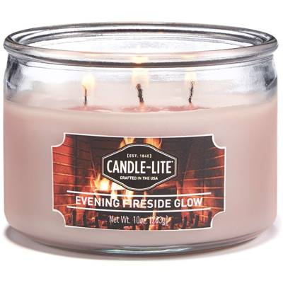 Candle-lite Everyday Collection 3 Wick Terrace Jar Glass Scented Candle 10 oz 283 g - Evening Fireside Glow