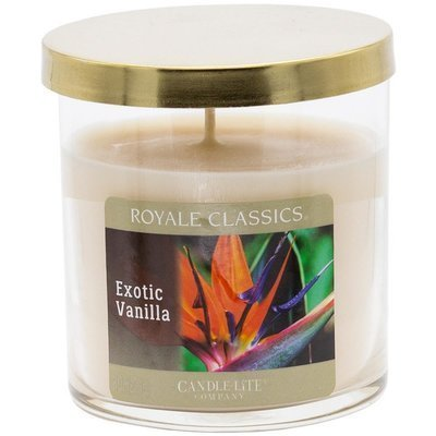 Candle-lite Royale Classics premium scented candle tumbler gold 8 oz 226 g - Exotic Vanilla