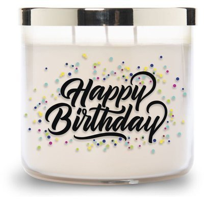 Colonial Candle Luxe large soy scented candle 3 wicks 14.5 oz 411 g - Happy Birthday
