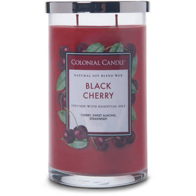 Colonial Candle large scented jar candle 18 oz 510 g - Black Cherry