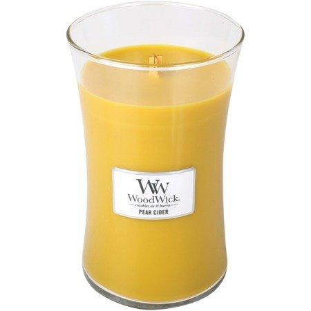 WoodWick Core Large Candle świeca zapachowa sojowa w szkle ~ 175 h - Pear Cider