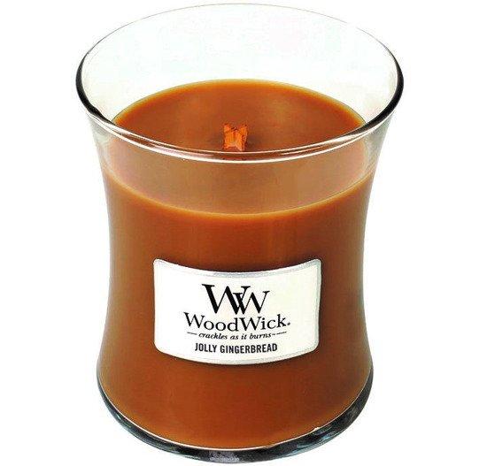 WoodWick Core Medium świeca zapachowa sojowa w szkle ~ 100 h - Jolly Gingerbread