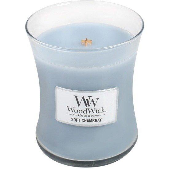 WoodWick Core Medium świeca zapachowa sojowa w szkle 100 h - Soft Chambray