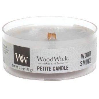 WoodWick Core Petite Small Candle świeca zapachowa sojowa typu daylight z drewnianym knotem ~ 15 h - Wood Smoke