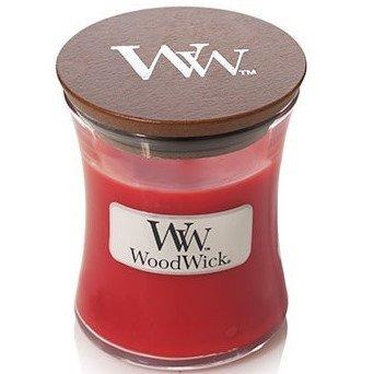 WoodWick Core Small Candle świeca zapachowa w szkle z drewnianą pokrywką ~ 40 h - Crimson Berries