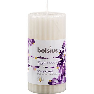 Bolsius pillar scented candle 120/58 mm ivory True Moods - So Relaxed