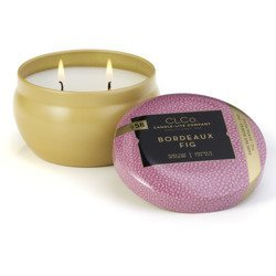 Candle-lite CLCo luxury scented candle 2 wick tin 6.25 oz 177 g - No. 58 Bordeaux Fig
